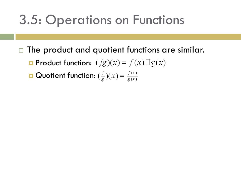 3.5: Operations on Functions