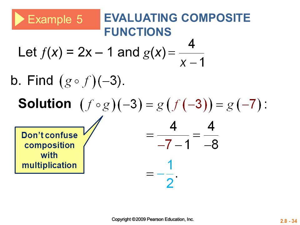 Don't confuse composition with multiplication