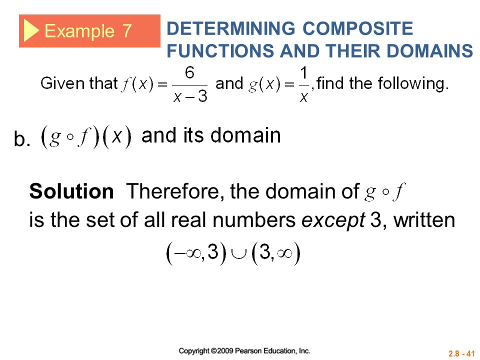 Solution Therefore, the domain of