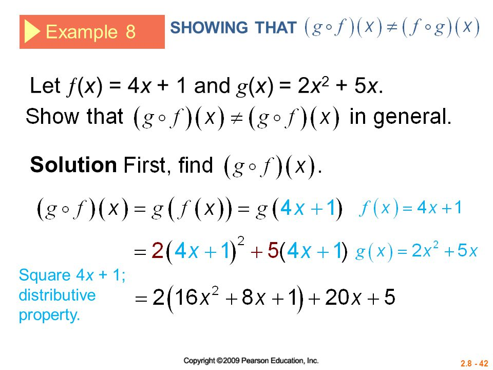 Let (x) = 4x + 1 and g(x) = 2x2 + 5x.