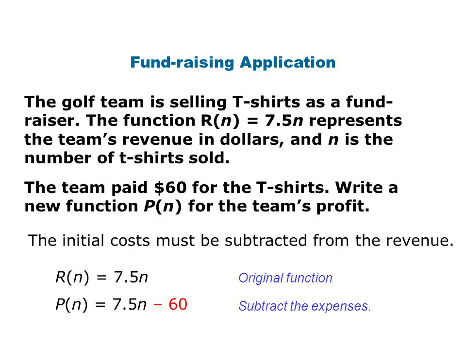Fund-raising Application