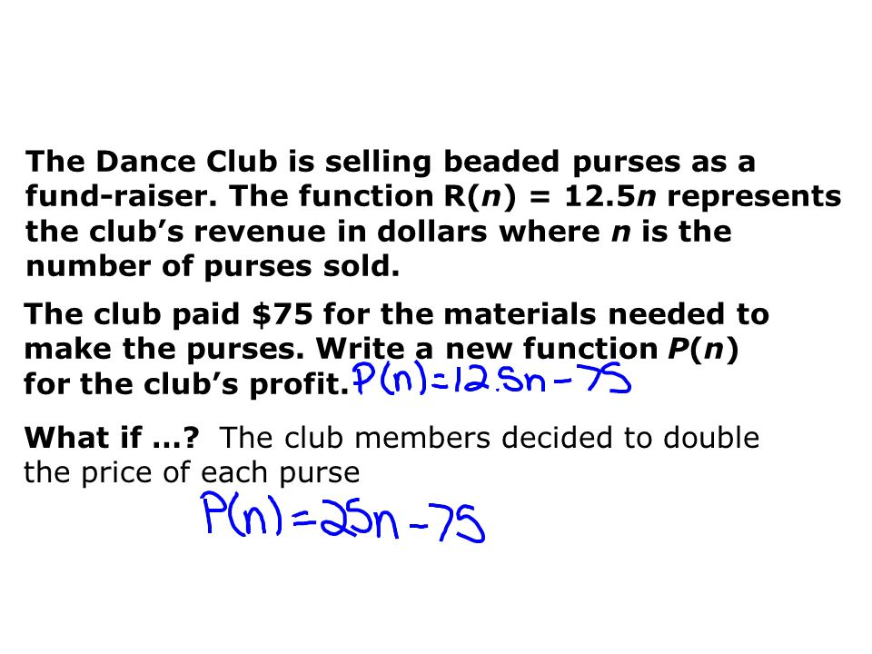The Dance Club is selling beaded purses as a fund-raiser