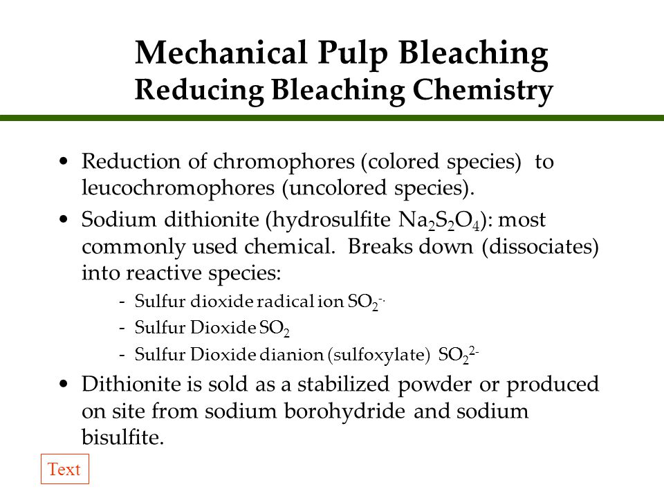 Pulping and bleaching pse ppt video online download mechanical pulp bleaching reducing bleaching chemistry urtaz Gallery