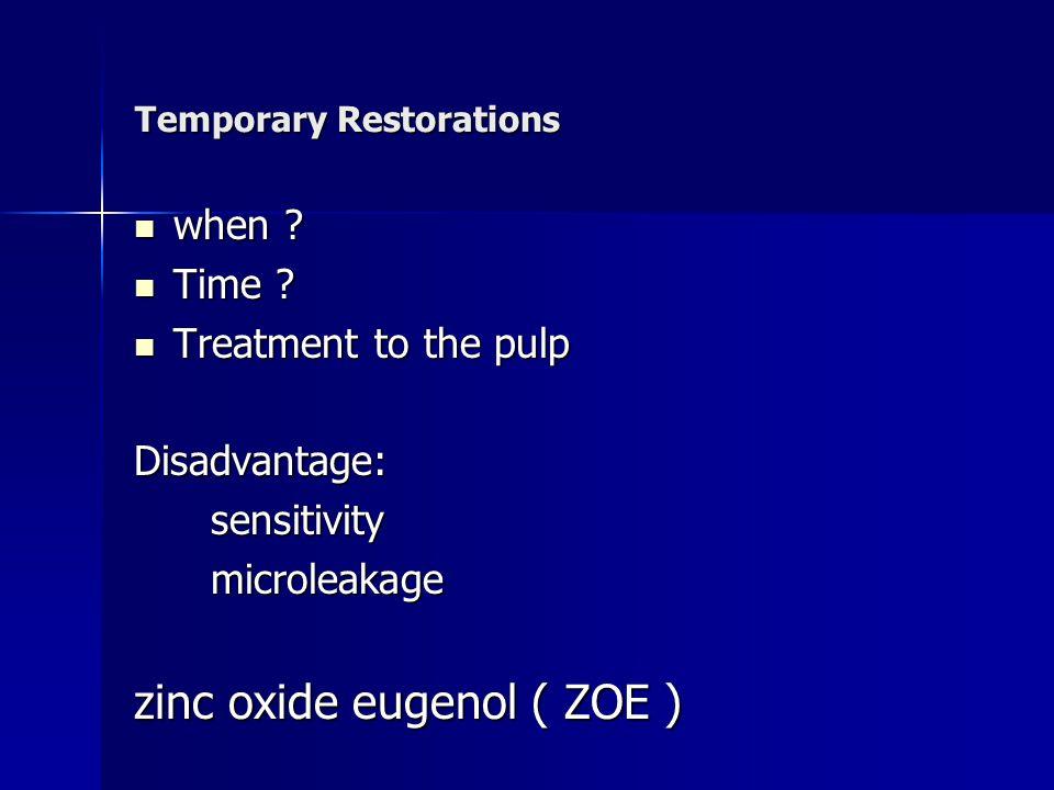 Temporary Restorations