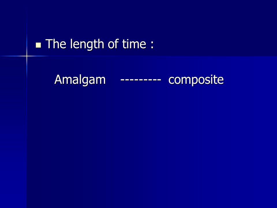 The length of time : Amalgam --------- composite