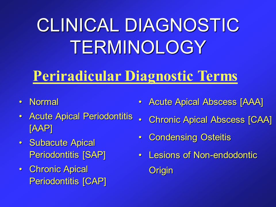 CLINICAL DIAGNOSTIC TERMINOLOGY
