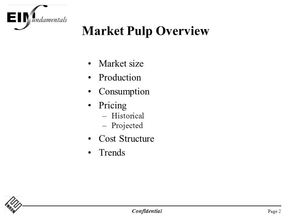 Market Pulp Overview Market size Production Consumption Pricing