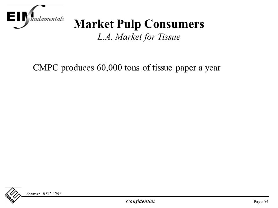 Market Pulp Consumers L.A. Market for Tissue