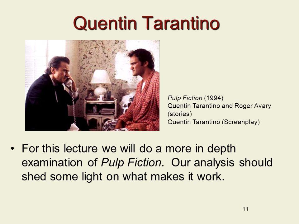 Quentin Tarantino Pulp Fiction (1994) Quentin Tarantino and Roger Avary (stories) Quentin Tarantino (Screenplay)