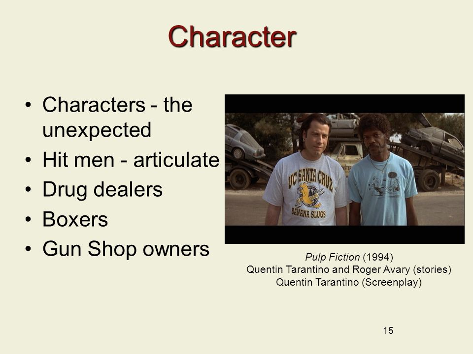 Character Characters - the unexpected Hit men - articulate
