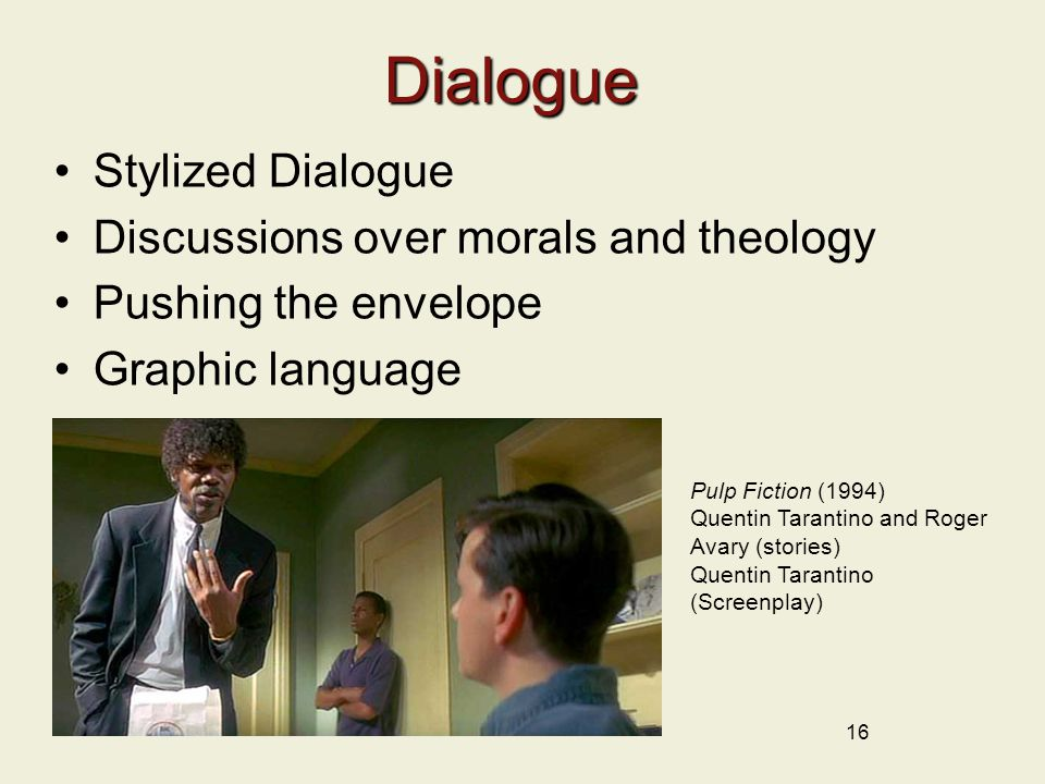 Dialogue Stylized Dialogue Discussions over morals and theology
