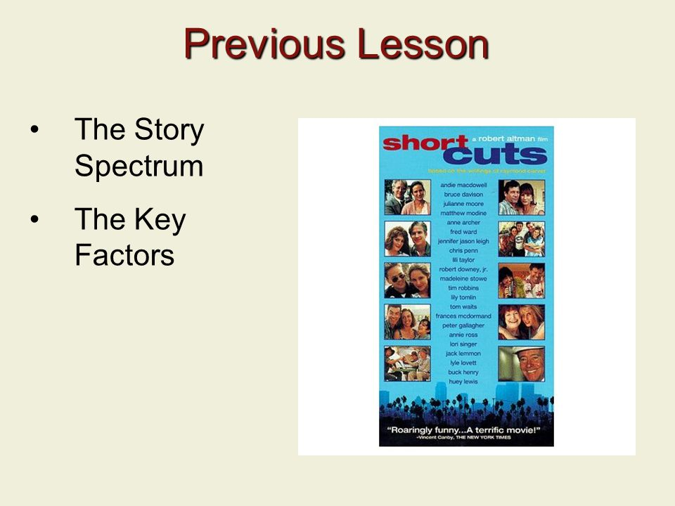Previous Lesson The Story Spectrum The Key Factors 2