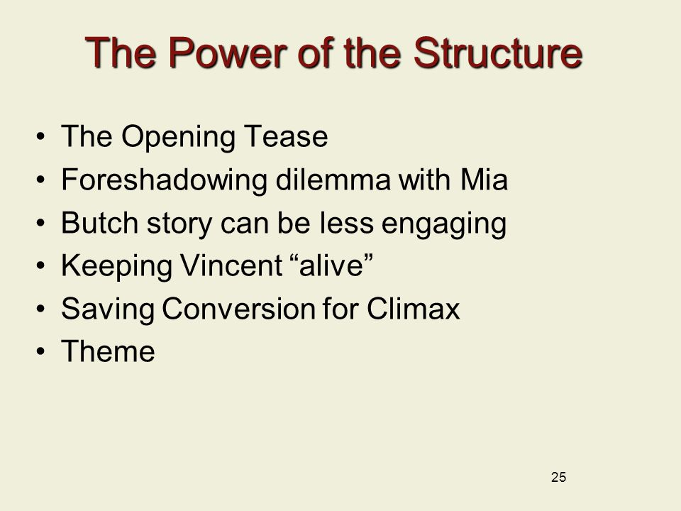 The Power of the Structure