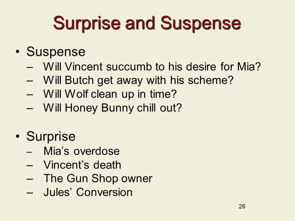 Surprise and Suspense Suspense Surprise
