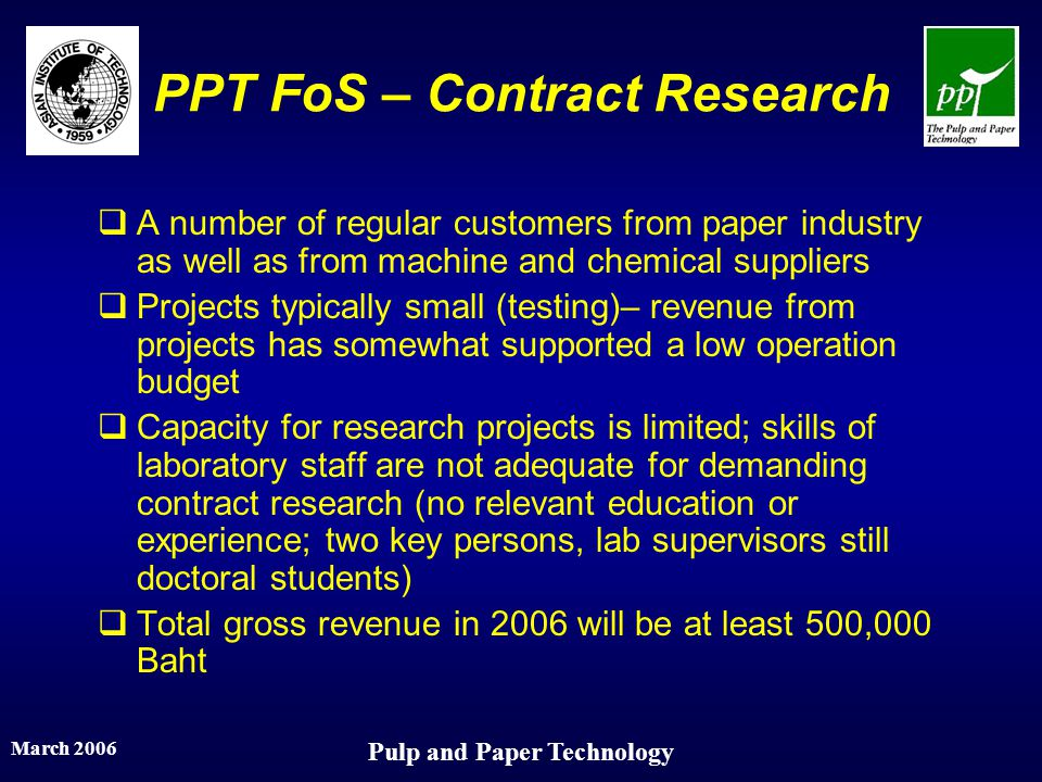 PPT FoS – Contract Research