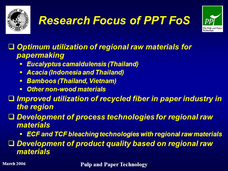 Research Focus of PPT FoS