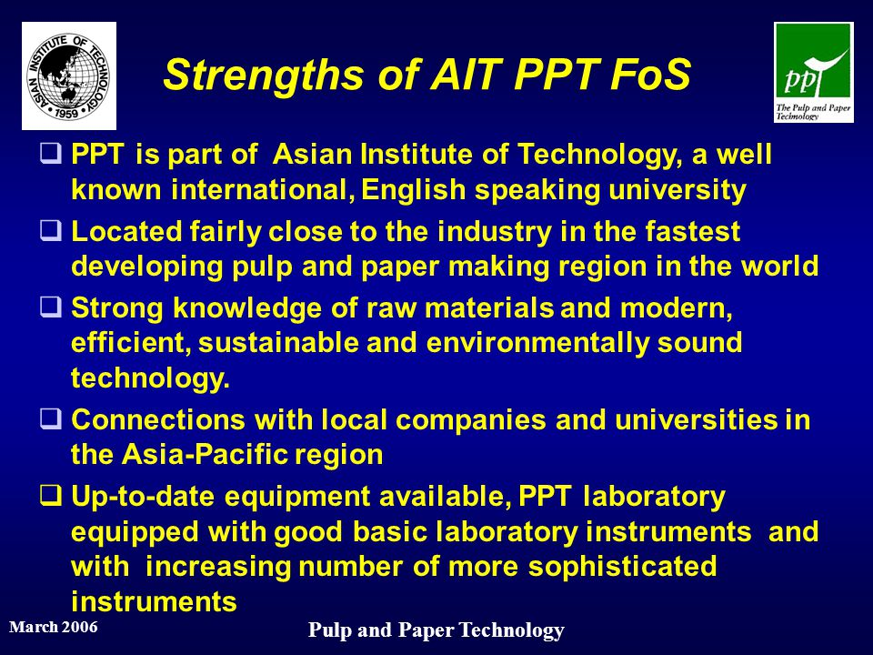 Strengths of AIT PPT FoS