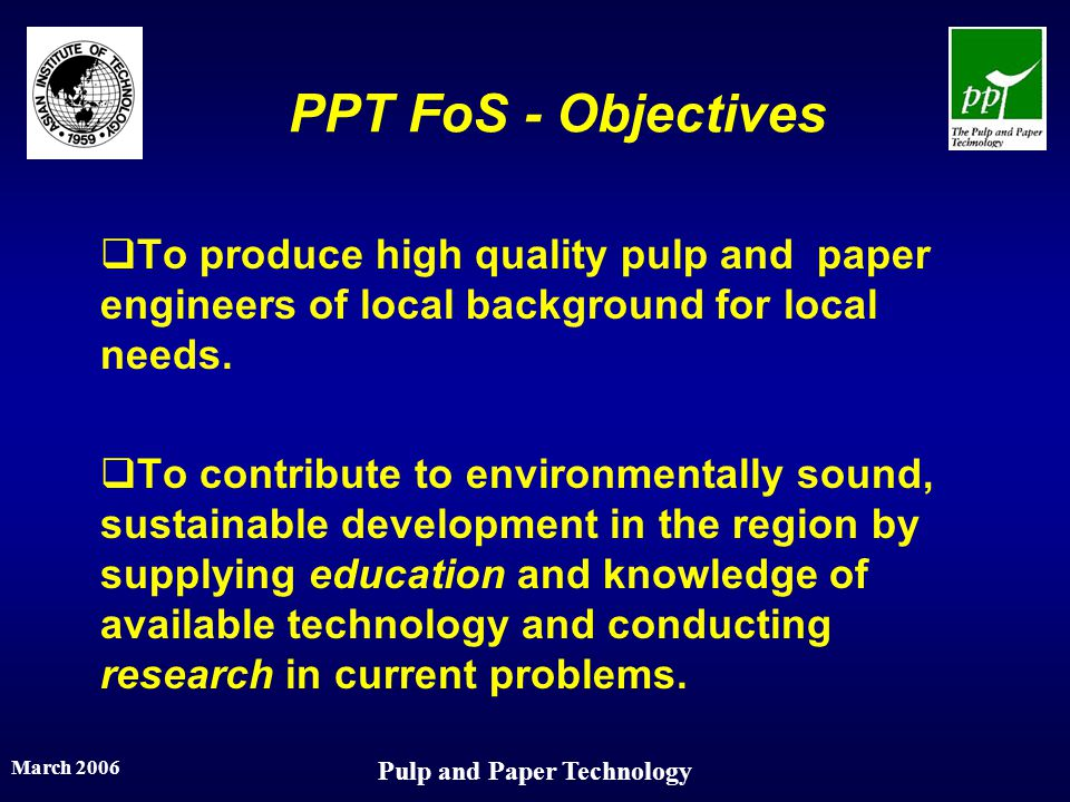 Pulp and Paper Technology
