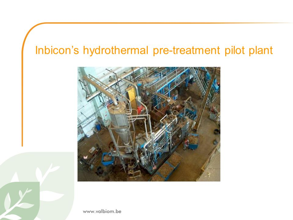 Inbicon's hydrothermal pre-treatment pilot plant