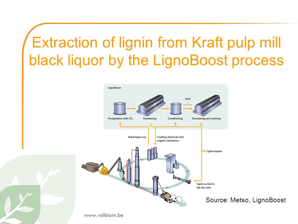 Extraction of lignin from Kraft pulp mill black liquor by the LignoBoost process