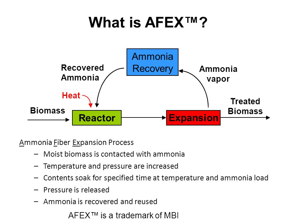 What is AFEX™ Reactor Explosion Ammonia Recovery Expansion