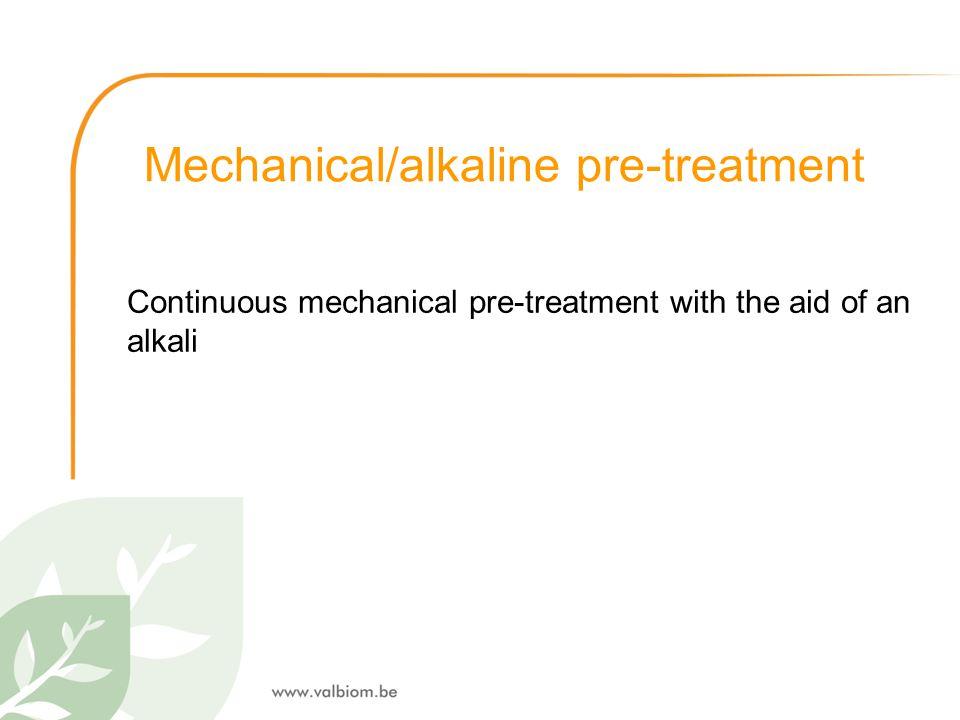 Mechanical/alkaline pre-treatment