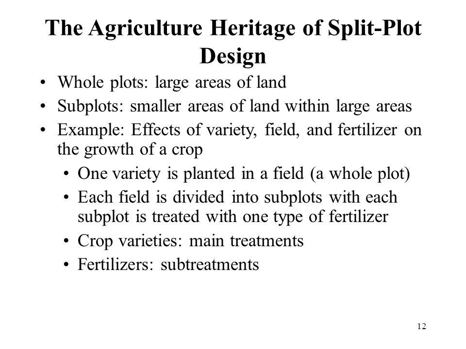 The Agriculture Heritage of Split-Plot Design