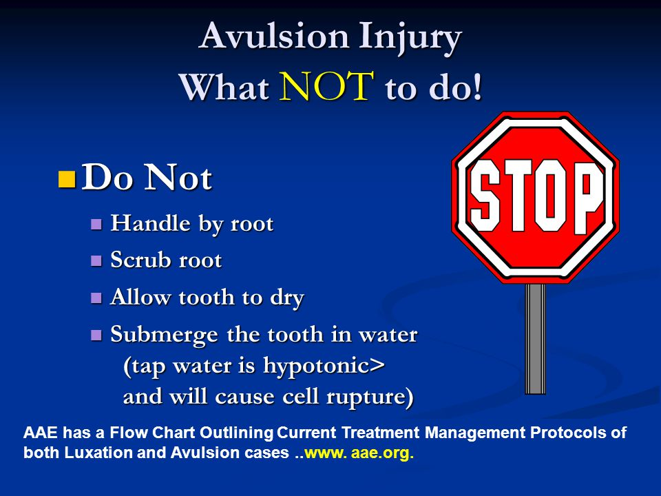 Avulsion Injury What NOT to do!