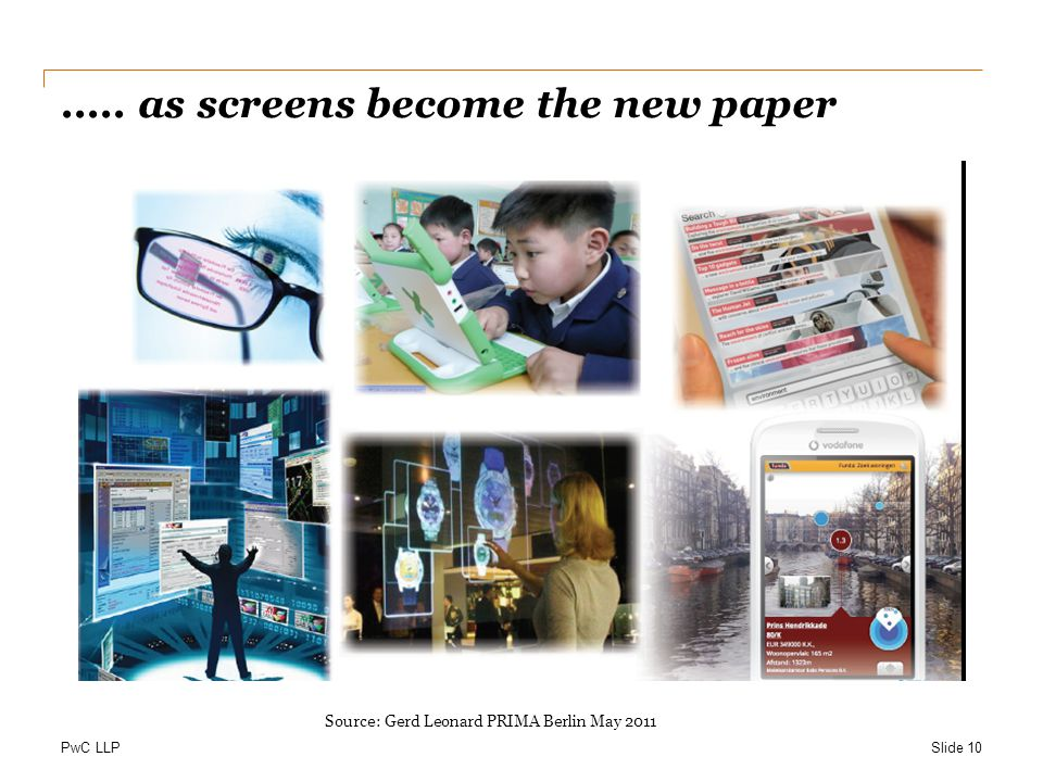 ..... as screens become the new paper