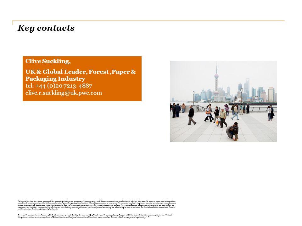 Key contacts Clive Suckling,