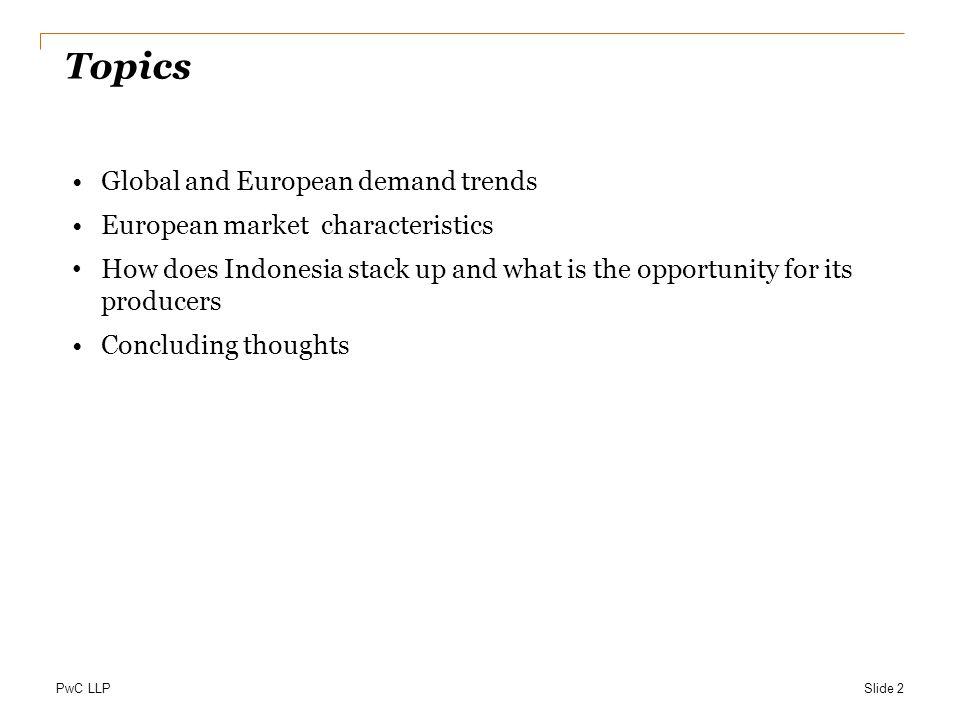 Topics Global and European demand trends