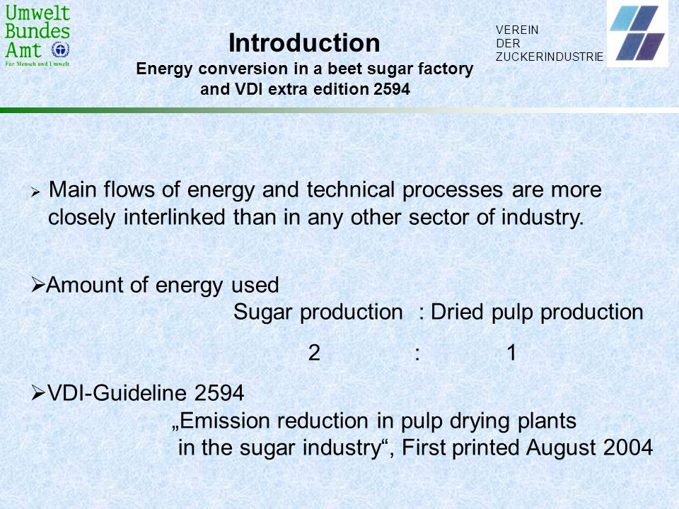 Energy conversion in a beet sugar factory
