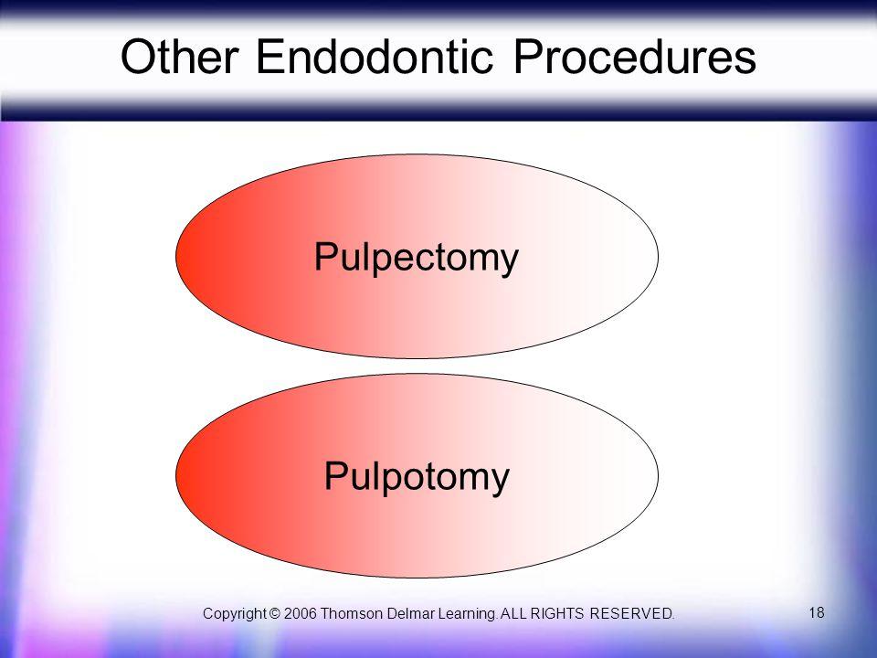 Other Endodontic Procedures