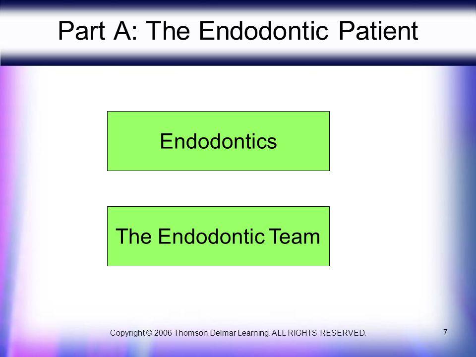 Part A: The Endodontic Patient