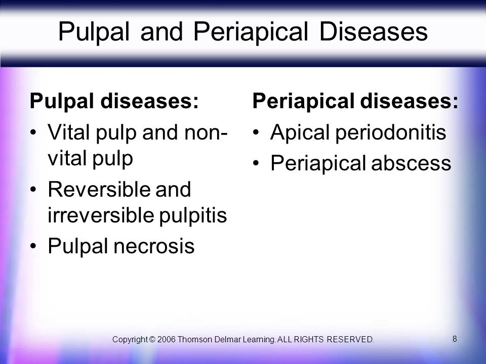 Pulpal and Periapical Diseases