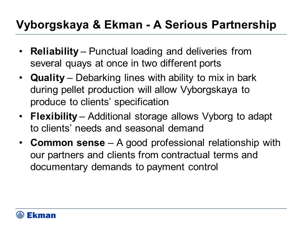 Vyborgskaya & Ekman - A Serious Partnership