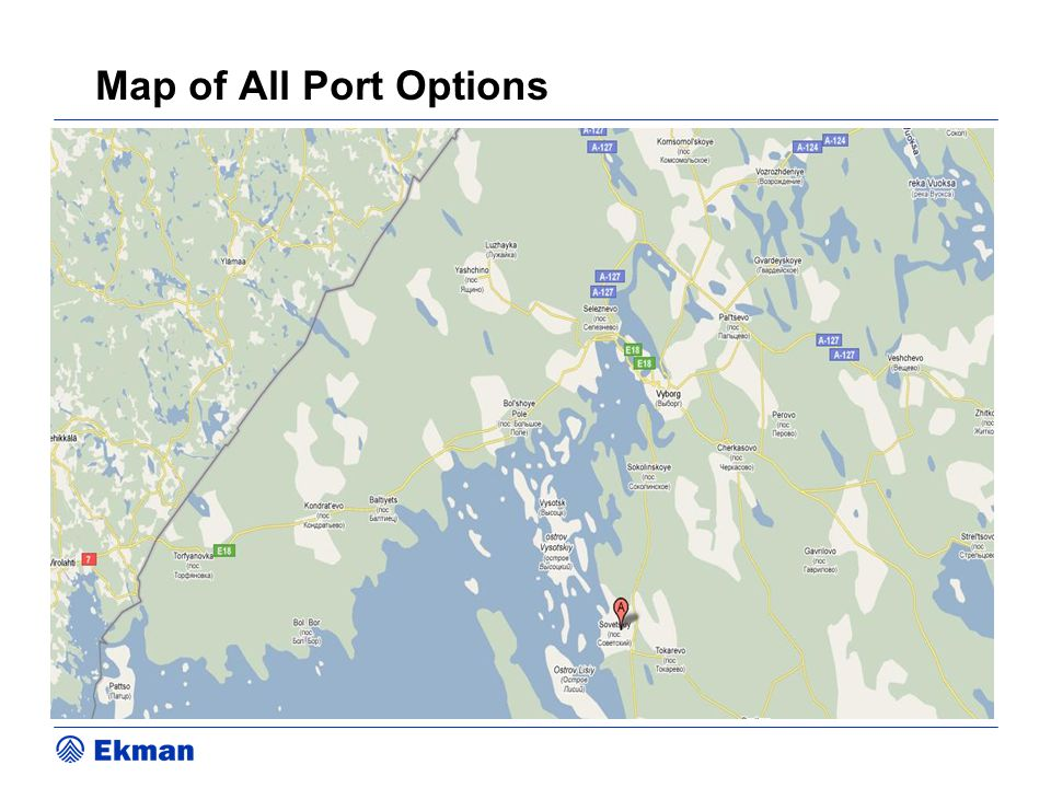 Map of All Port Options