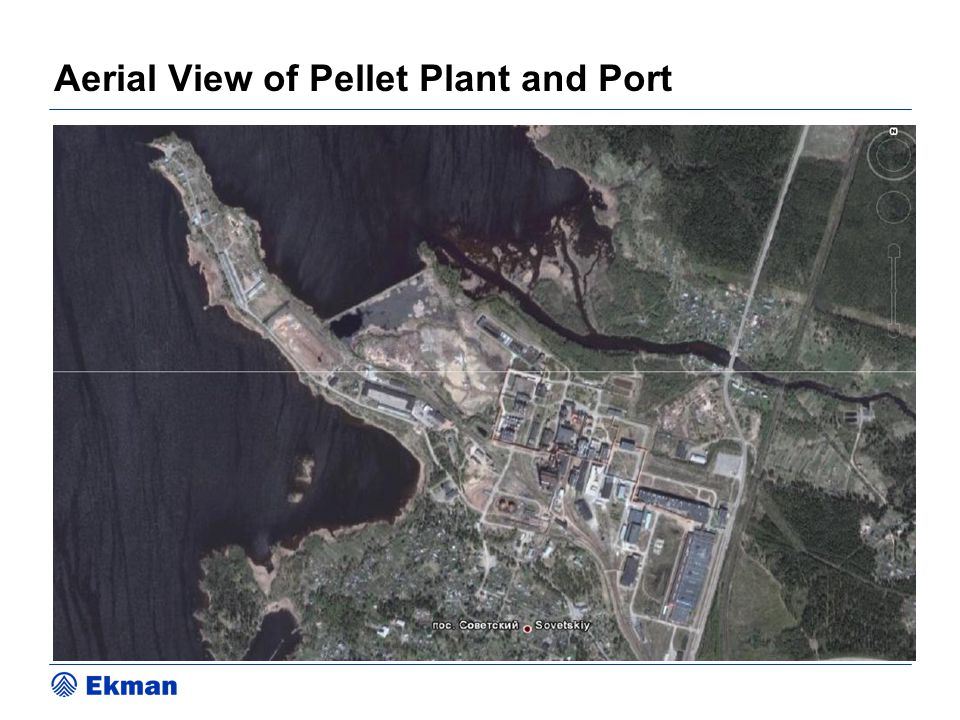Aerial View of Pellet Plant and Port