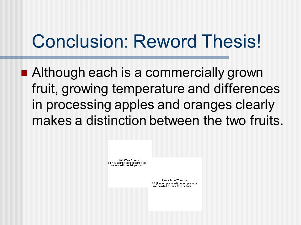 comparison between apples and oranges essay