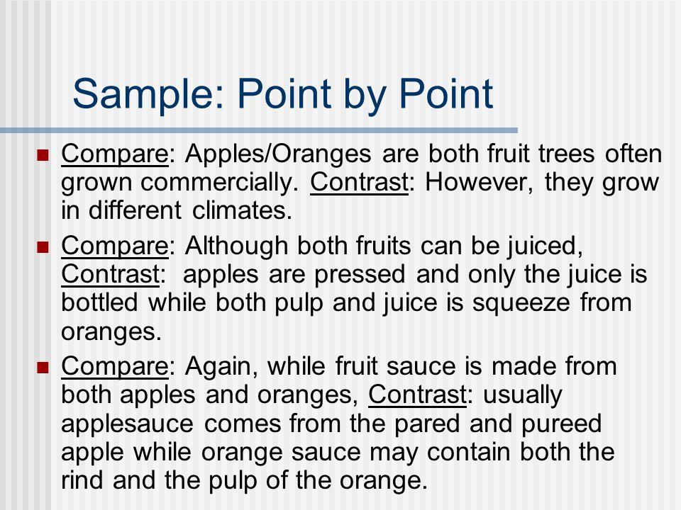 comparative essay block method