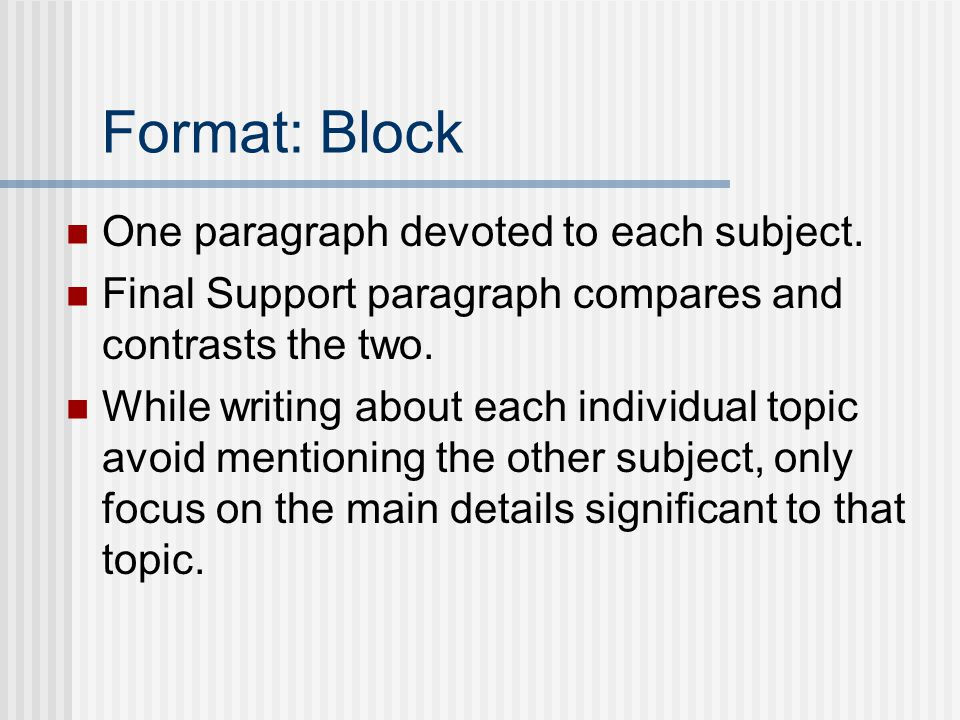 writing comparative essays for elementary The compare and contrast essay is taught through modeling from the brainstorming phase through the first draft.