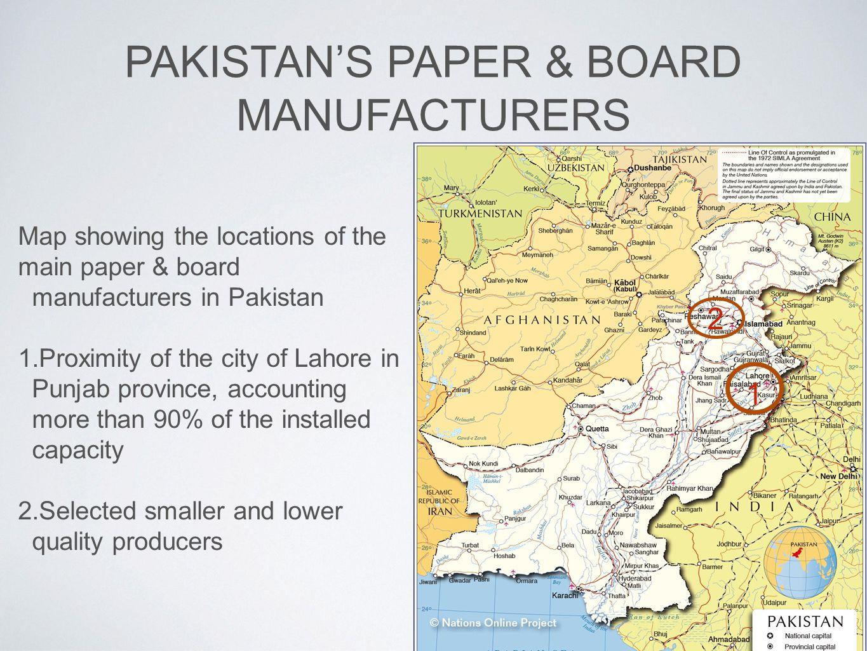 PAKISTAN'S PAPER & BOARD MANUFACTURERS