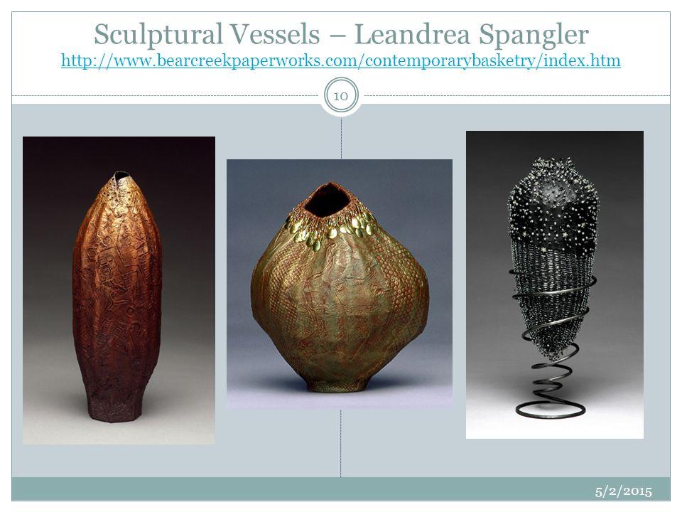 Sculptural Vessels – Leandrea Spangler http://www. bearcreekpaperworks