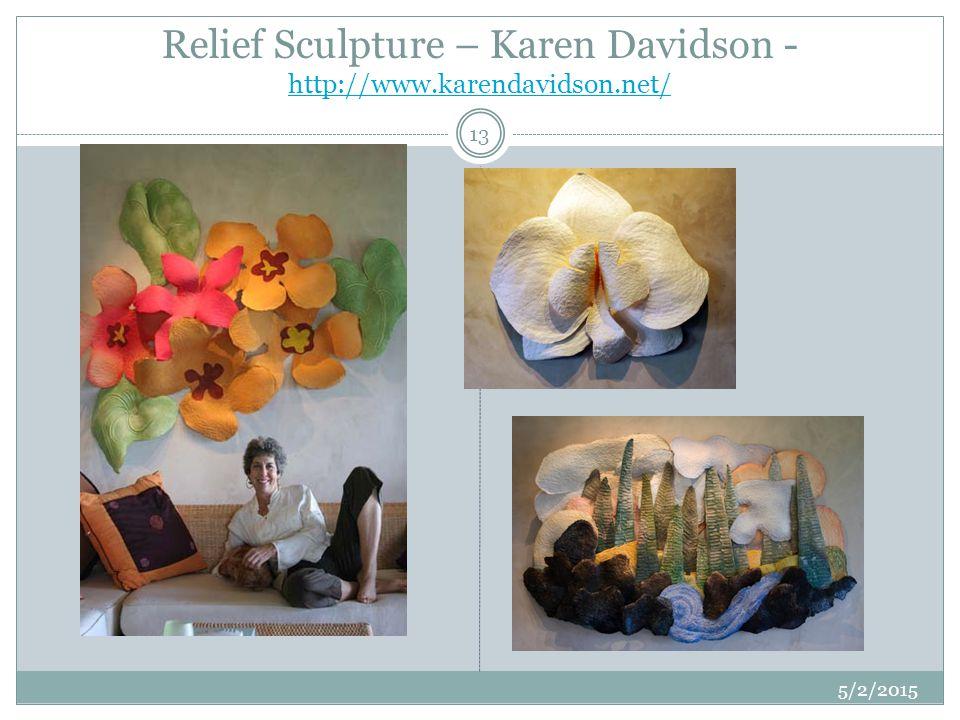 Relief Sculpture – Karen Davidson - http://www.karendavidson.net/