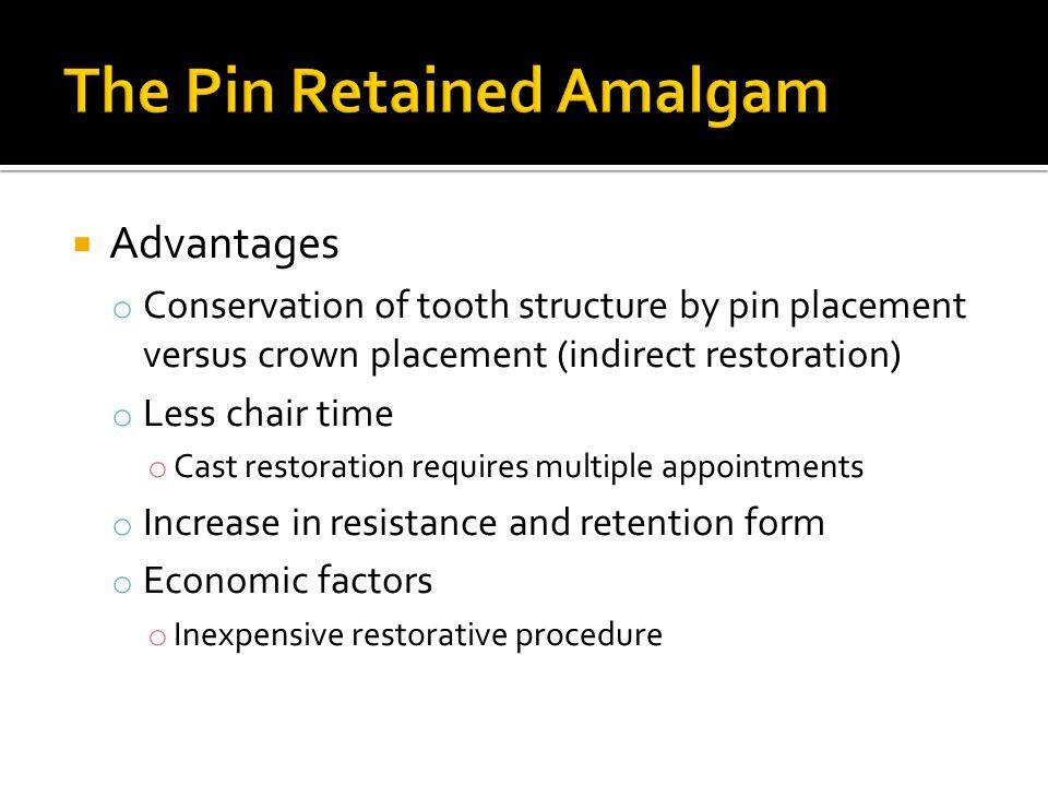 The Pin Retained Amalgam