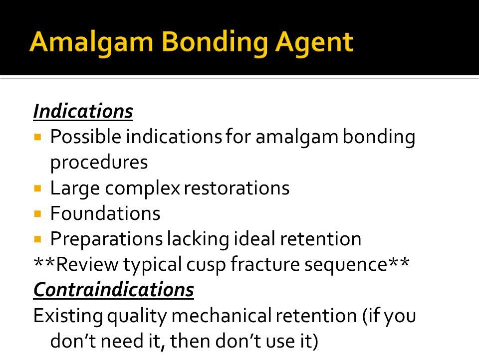 Amalgam Bonding Agent Indications