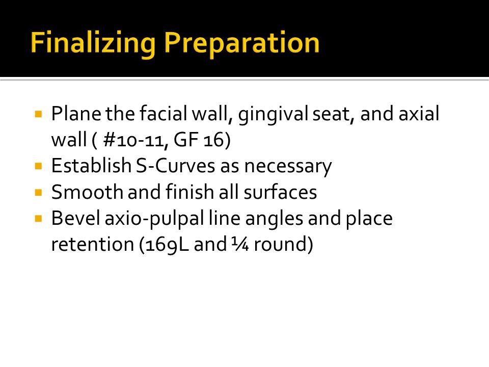 Finalizing Preparation