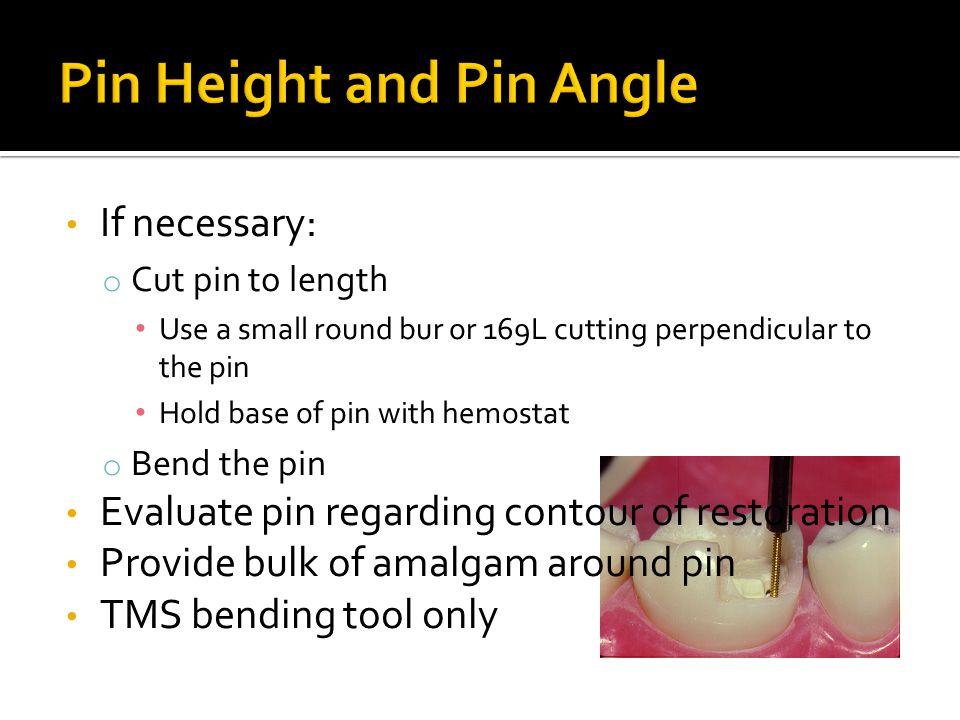 Pin Height and Pin Angle