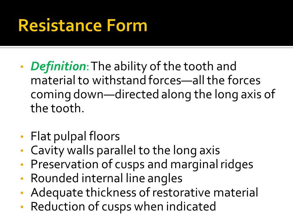 Resistance Form