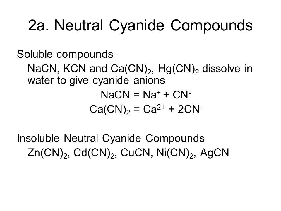 2a. Neutral Cyanide Compounds